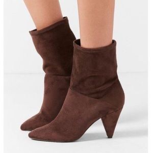 Urban Outfitters Suede Scrunch Brown Boots